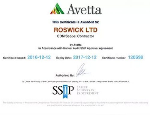 Roswick enhance business offering with new Health and Safety accreditation