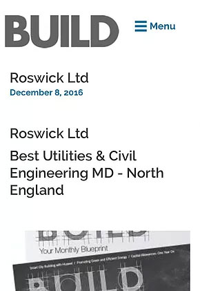 Roswick scoops prestigious North West construction award