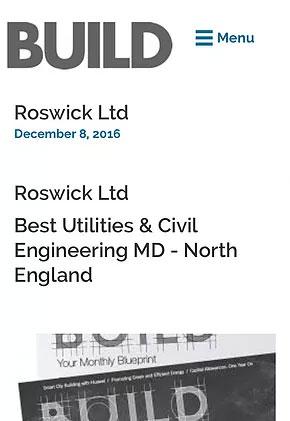 Roswick scoops prestigious North West construction award